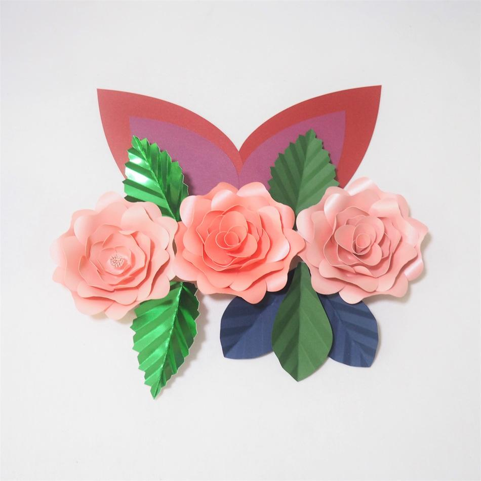 2019 Diy Giant Paper Flowers Craft Artificial Rose Fleurs