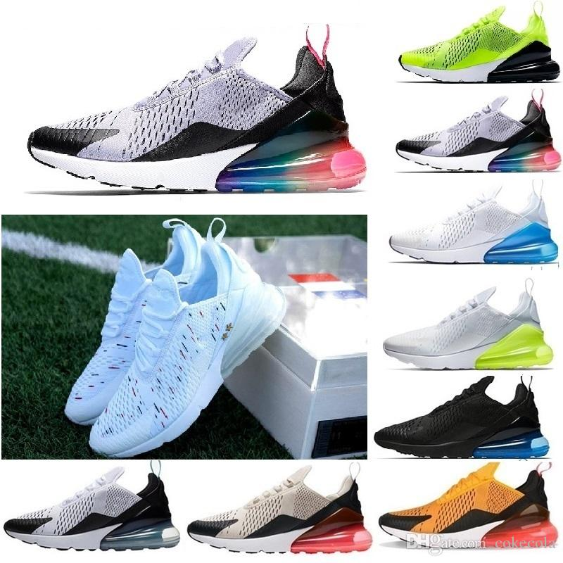 finest selection dd4c6 26098 Acheter Nike Air Max 270 Haute Qualité Mens Triple Noir 270 AH8050 Trainer  Chaussures De Sport Womens Sole 270 Chaussures De Sneakers Taille EUR 36 45  De ...