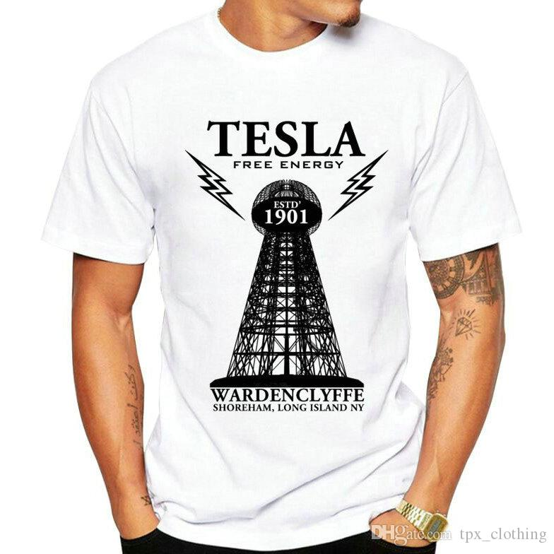 25a87a9b Free Energy T Shirt Nikola Tesla Short Sleeve Gown Power Tower Tees Unisex  Clothing Quality Modal Tshirt Cool T Shirts T Shirts Online From  Tpx_clothing, ...