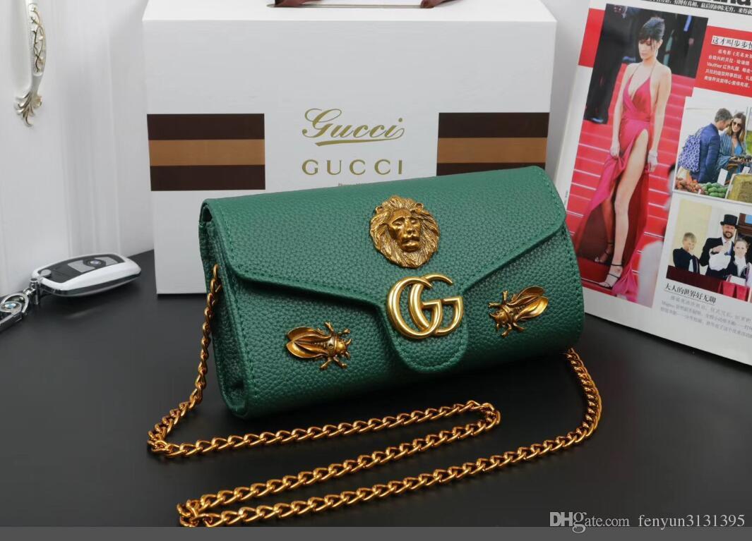 debe86f9b3a7 Fashion Luxury Designer Handbags High Quality Valentine Italian Genuine  Leather Bag Rivet Chain Crossbody Bags For Women Shoulder Bags AG Leather  Goods ...