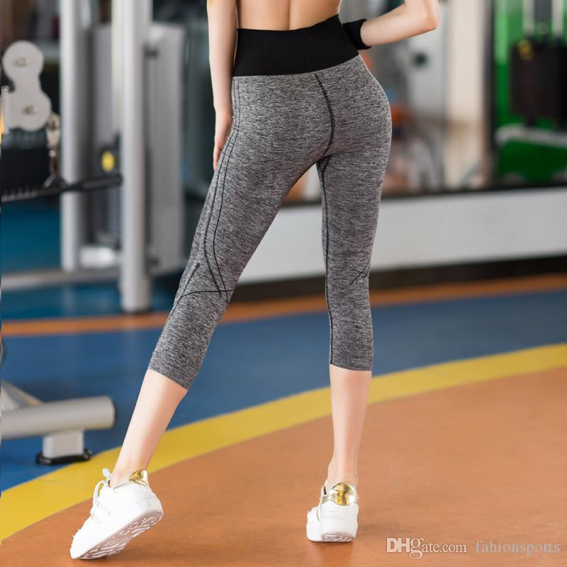 Quick Dry Sportswear Gym Leggings weibliches T-Shirt Kostüm Fitness Strumpfhosen Sport Anzug Grün Top Yoga Set Frauen Trainingsanzug