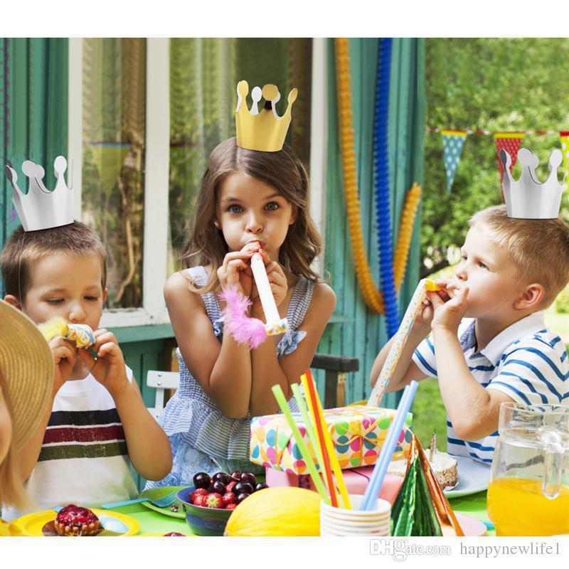 10 unids Kids Party Birthday Festive Headgear Fiesta de cumpleaños Decoración Festive Party Supplies Accesorio