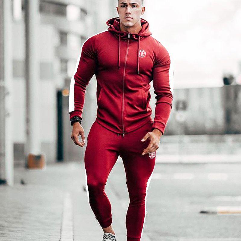 33c2fde0d94a 2019 Sport Suit Men Running Gym Tracksuit Men Set Sports Top Jogging Set  Fitness Bodybuilding Sports Suits Mens Hoodie+Pants Suit From Mtaiyang