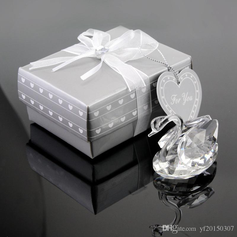 K9 Crystal Swan In Gift Box Wedding Favors Wedding Gift And Bridal