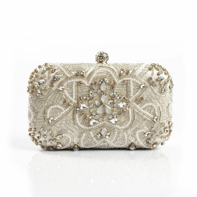 Luxury Women Evening Bags Fashion Pearl Beaded Diamond Women Evening Clutch  Bag Bridal Wedding Purse Handbag Shoulder Bag Chain D18110106 Handbags  Brands ... 5a6696258eb3