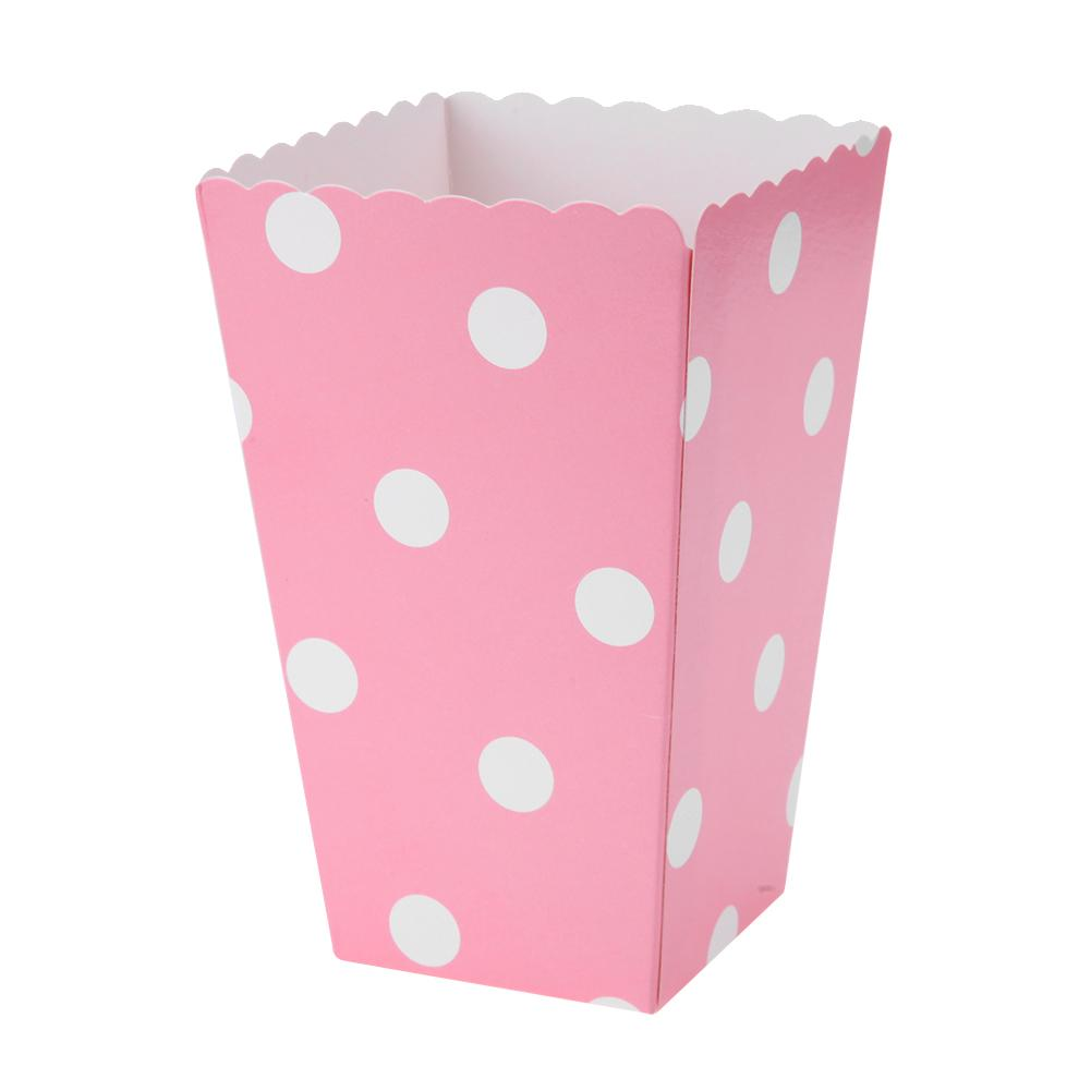 Colorful Mini Party Paper Popcorn Boxes Candy Favor Bags Wedding Birthday Movie Party Supplies 12 unids Candy Snack Favor Paper Bag