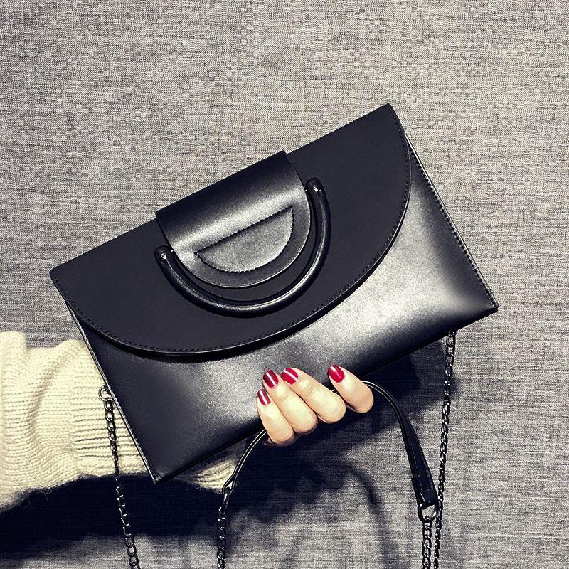 e7938ee9fc7ab 2018 Fashion Solid Women S Clutch Bag Leather Women Envelope Bag Clutch  Evening Bag Female Clutches Handbag Immediately Shipping Designer Handbags  Sale ...