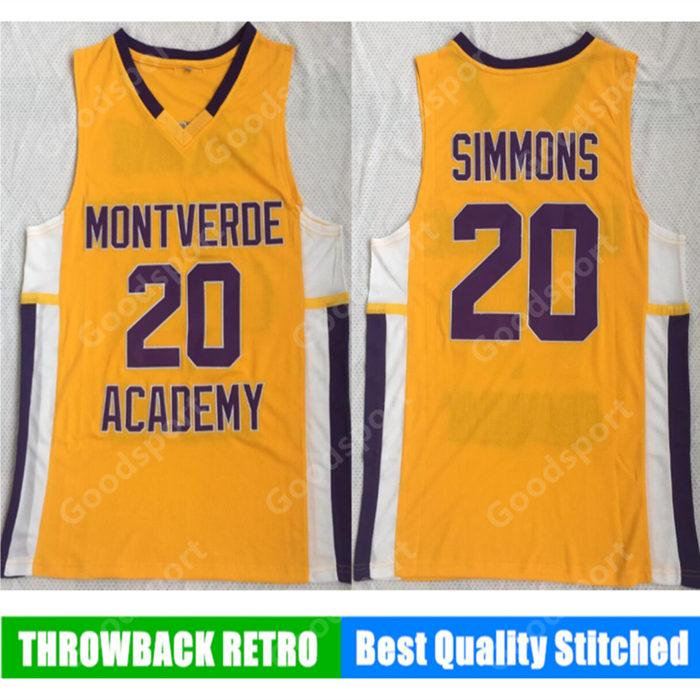 separation shoes c93fa ddb76 HOT MONTVERDE ACADEMY school Stitched 20 Ben Simmons Stitched embroidery  Swingman jerseys Jersey SHIRTS cheap sport basketball
