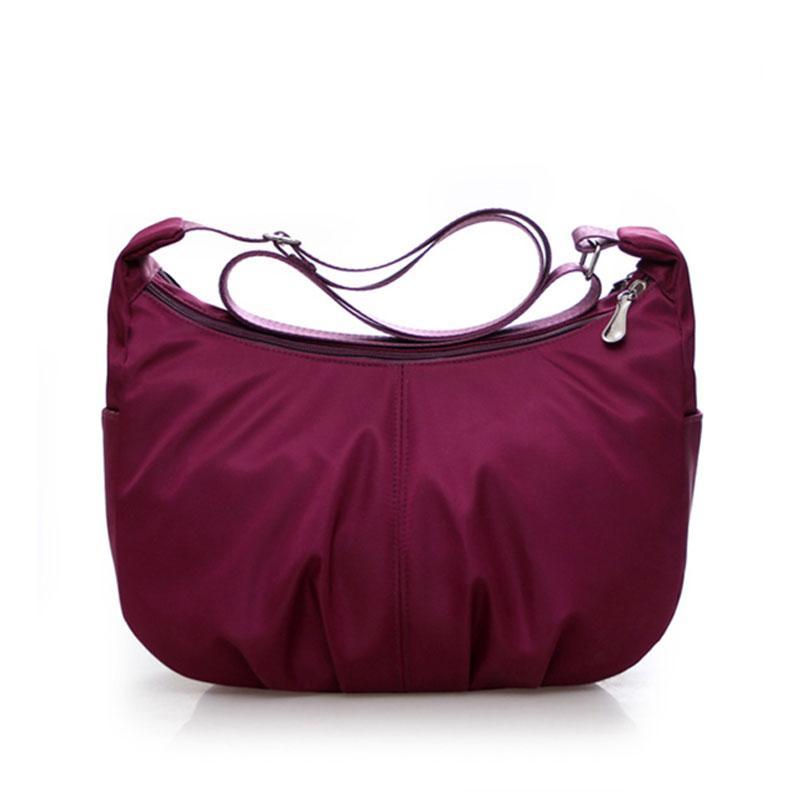 High Quality Women Crossbody Bags Waterproof Nylon Fashion Shoulder Bag  Sling Bag Female Lady Messenger Bags Ruched Hobos Design Cute Handbags  Leather Totes ... a53f23cac2e38