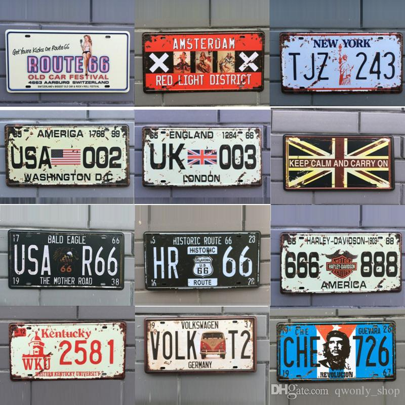 2019 Different Themes Retro Metal Signs Tin Painting Home Decor