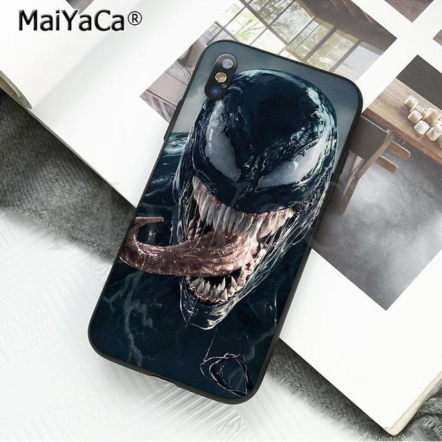 huge discount f49c3 d308e Venom For iPhone 7 7s Case Cover,Venom for Iphone X XS Samsung S7 S8 plus  Hard Plastics Phone Protective Case Cover