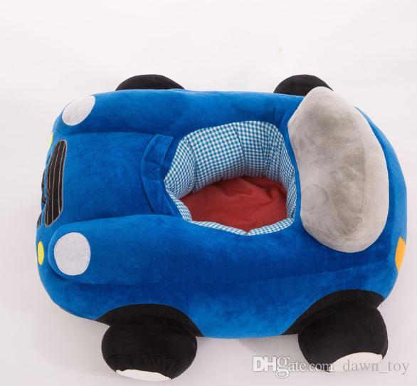 Creative Security Cartoon Fasion car Bambino che impara a sedersi Sedia Baby Sedere sedersi Divano in peluche Seggiolini bambini