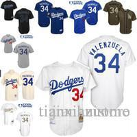 brand new b6834 d3c88 White 1955 Throw Fernando Valenzuela Authentic Jersey , Men s #34 Mitchell  And Ness Ls As Dodgers