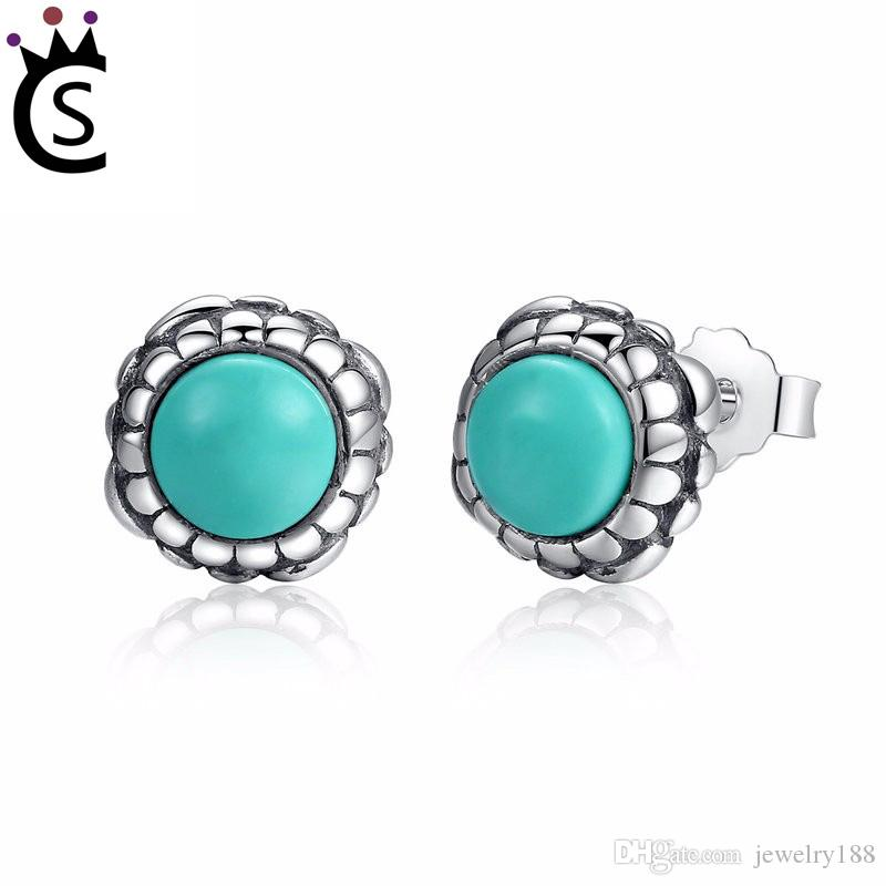 ec7d6a9de ... cheap combine the detailed flower studs with pan birthstone rings and  birthstone charms for a matching