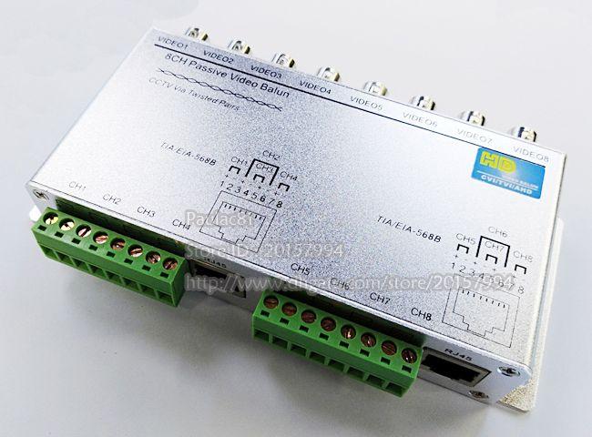 8CH HD CVI TVI AHD Passive UTP Video Balun For CCTV Camera BNC RJ45 CAT5 Adapter//