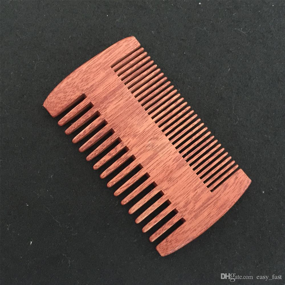 Wooden Beard Comb Dual Action Fine & Coarse Teeth Perfect for use with  Balms and Oils Amodong Comb for Beards & Mustaches Dropshipping