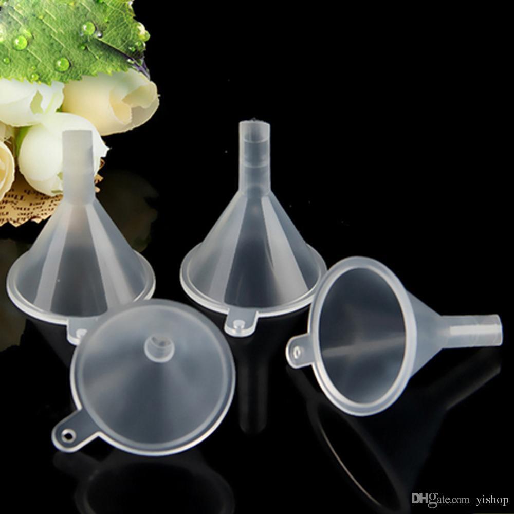 Outils de remplissage liquides transparents de mini entonnoirs Outils de remplissage liquides de mini huile essentielle de parfum transparents