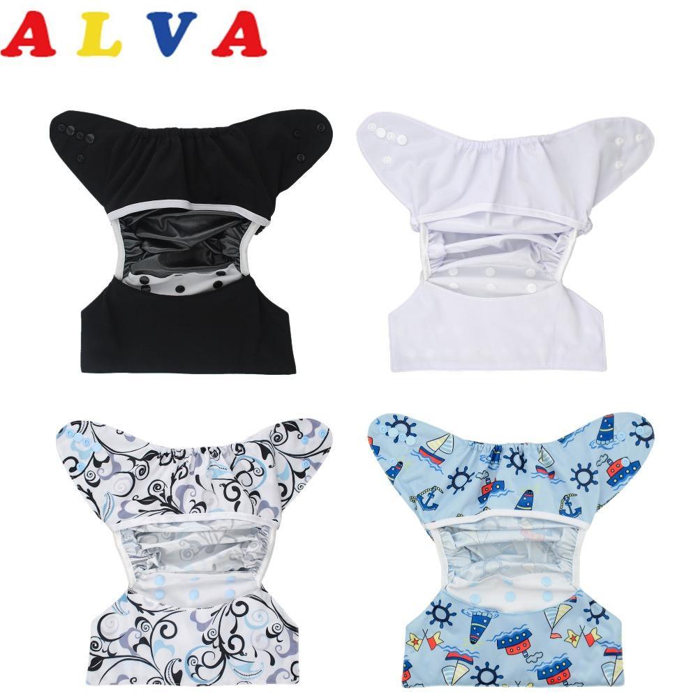 Mutter & Kinder U Pick Alvababy Reusable Tuch Windel Waschbar Tasche Tuch Windel Mit 1 Pc Mikrofaser-einsatz