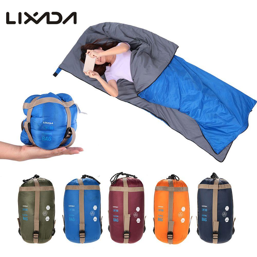 f1eb6a63f4aa LIXADA 190   75cm Envelope Sleeping Bag Camping Outdoor Mini Sleeping Bags  Ultralight Multifunction Travel Bag Hiking LW180 680g Luxury Sleeping Bags  ...