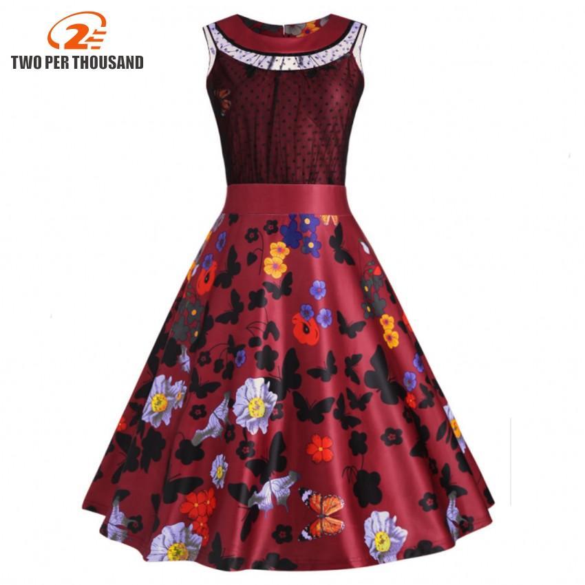 2019 Plus Size 4XL 5XL Vintage Summer Dress Women 2018 Pin Up ...