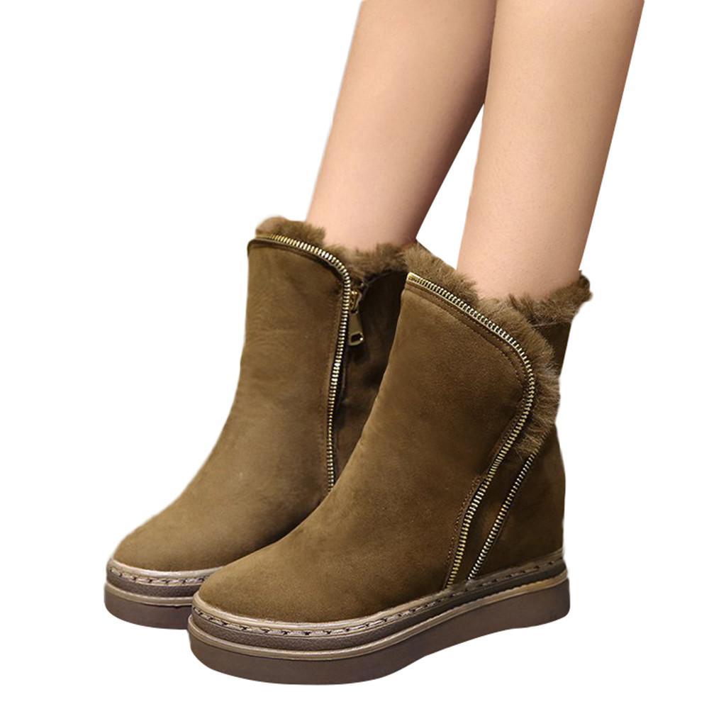 a058630a5 Compre YOUYEDIAN Mulheres Sapato De Inverno Aumento Dentro De Manter Quente  De Algodão Bota Ladie Martin Sapatos De Inicialização Curto Mulheres 2018    L4 ...