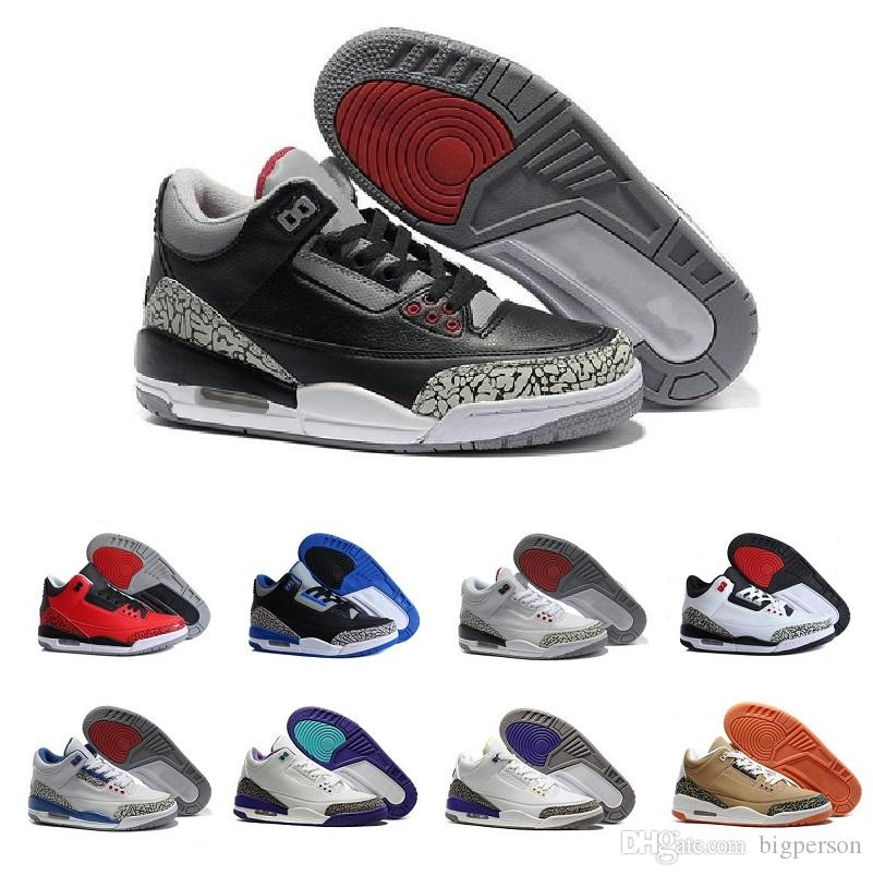 best loved 177a6 fc747 Hot 3 III OG Black Cement 3S Cyber Monday mens sport sneakers running shoe  cheap new men basketball shoes