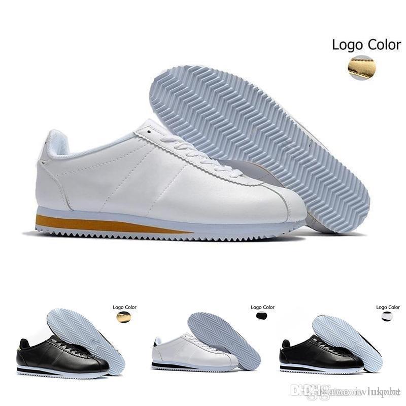 the best attitude 685a0 0dbe7 Acheter Nike Classic Cortez Leather Les Nouvelles Baskets Cortez De  Zapatillas Hombre Cortez Pour Hommes Et Femmes En Cuir Blanc Pour Hommes De   64.47 Du ...