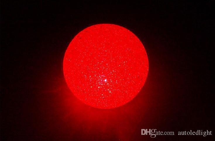 Luces nocturnas Cambio de color RGB Dia 2.75 pulgadas Bola de cristal LED Lámpara de luz nocturna Magia Colorido