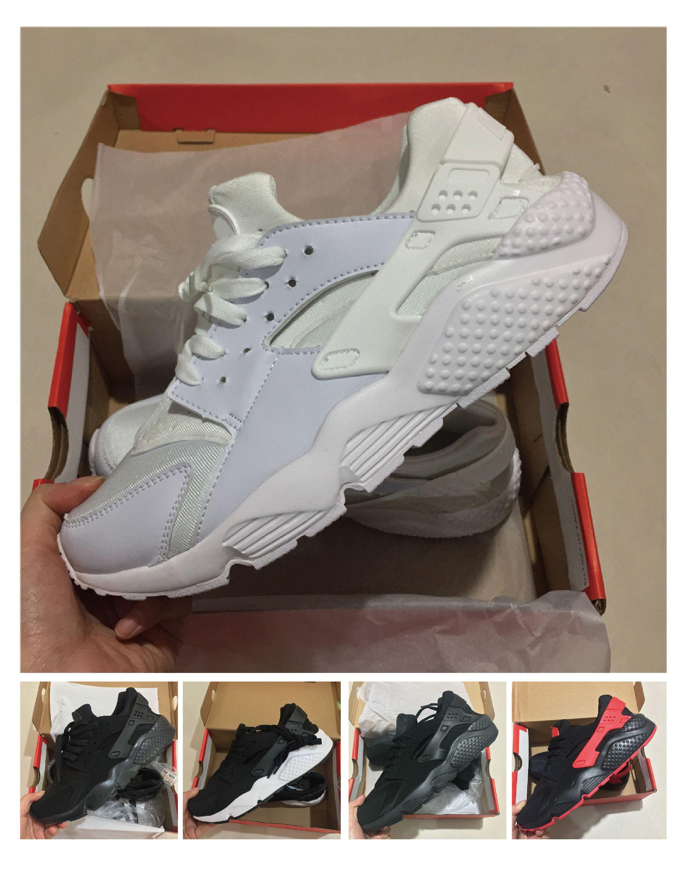 new products 5d8a2 8a5a4 Compre Nike Air Huarache 4 Comercio Al Por Mayor 2018 Huarache 1 Iv 4  Zapatillas De Running Hombres Mujeres Triple Blanco Negro Rojo Gris Hombres  Mujeres ...