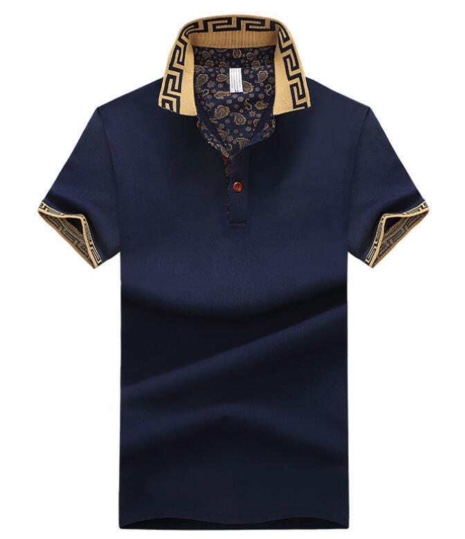 Les hommes en gros de coton de grande taille à manches courtes T-shirt d'été revers polo shirt livraison gratuite