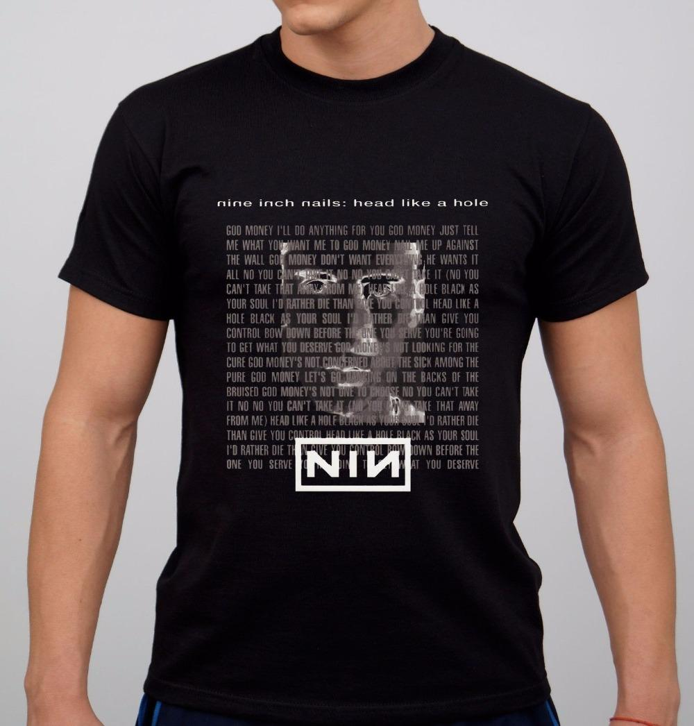 Create Your Own Shirt Design O Neck Short Nine Inch Nails Rock Band