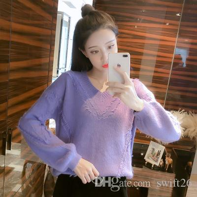 ff55ebbe912 2019 Institute Of Sheep Camel Hair Sweater Dress Wind 2018 New Winter Long  Sleeve Render Sweater From Swift26