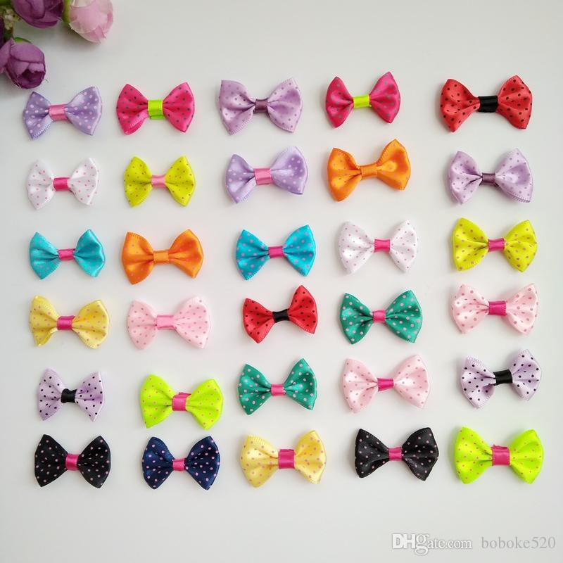 03006d04f8c7 1.4inch Mix Color Mini Bow Barrettes Sweet Girls Solid Dot Hair Clips Kids  Hairpins Hair Accessories For Women Girls Bridal Hair Accessories Hair ...