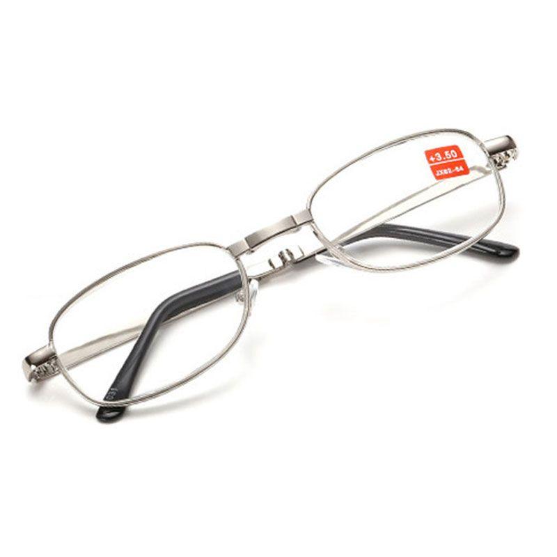ae2a61c6b23 Good Quality Full Metal Frame Glass Lenses Female Male Reading Age ...