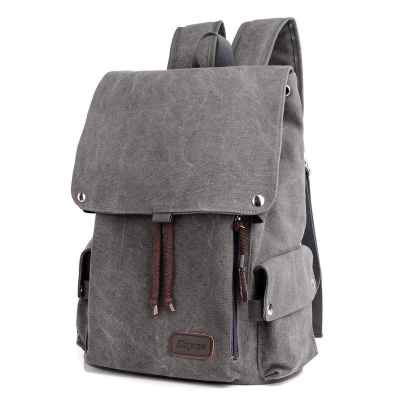 23075cc7c83 Backpack Men Travel Backpack No Brand Male Backpacks Male Boy School Shoulder  Bag 2018 Canvas Solid Book Bag Bagpack Tactical Backpack Ogio Backpack From  ...