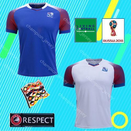 96d397cb3 Football Shirts 2018 World Cup Soccer Jerseys Finnbogason Iceland Home away  SIGTHORSSON G.SIGURDSSON TRAUSTASON Jersey