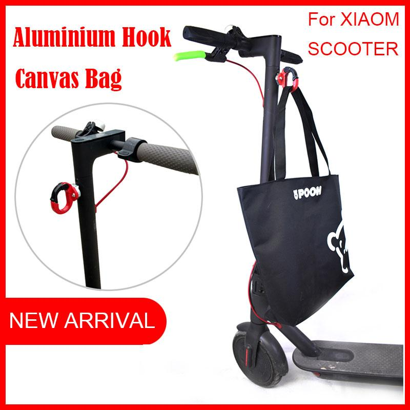 Aluminium hook for Xiaomi Mijia M365 Electric Scooter for hanging bags on  Xiaomi Skateboard accessaries diy