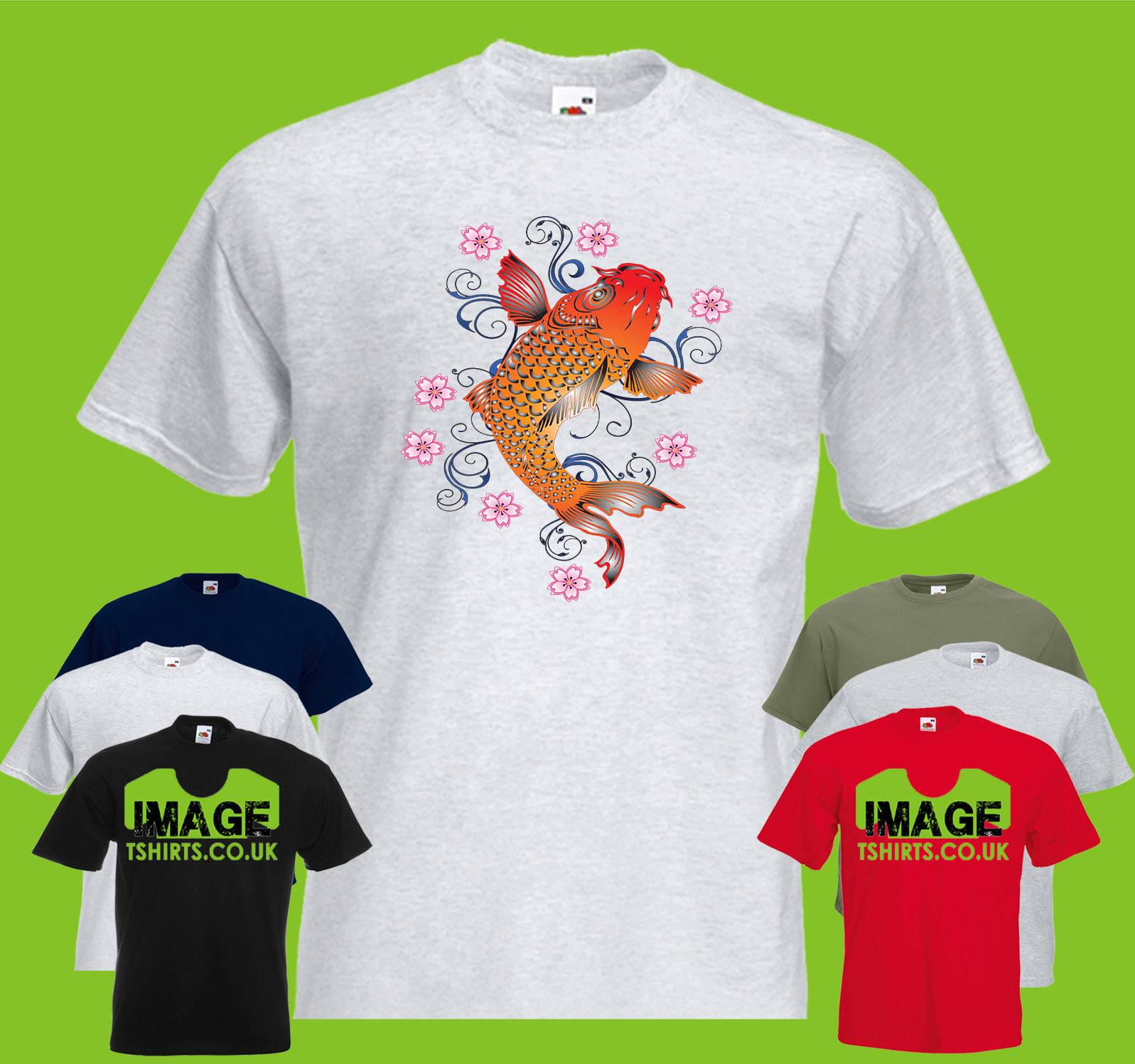 582ec88a Koi Fish Flowers Mens PRINTED T SHIRT Wildlife Animal Japanese Swim Funny  Casual Tee T Shirts Shopping Online T Shirts Sites From Fatcuckoo, $12.96|  DHgate.