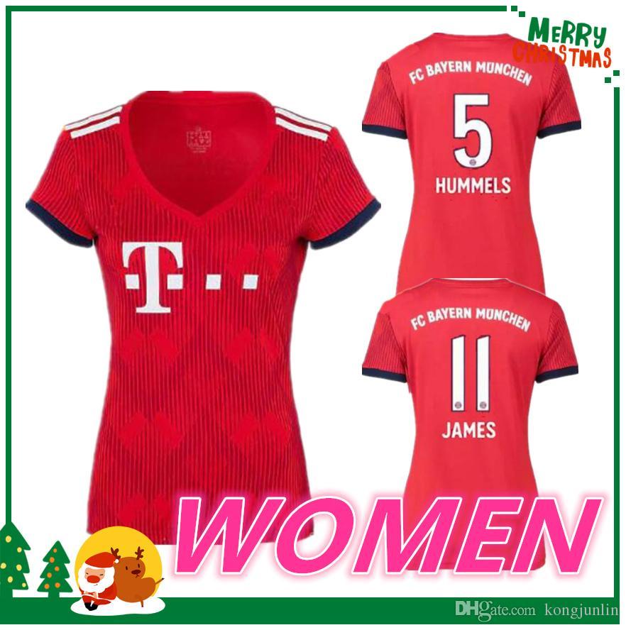 4f96e95256825 Mujer 2018 2019 Bayern Munich JAMES VIDAL RIBERY GOTZE SANCHES LAHM  Camisetas 18 19 LEWANDOWSKI MULLER ROBBEN BOATENG ALABA Camisa Deportiva  Por Kongjunlin