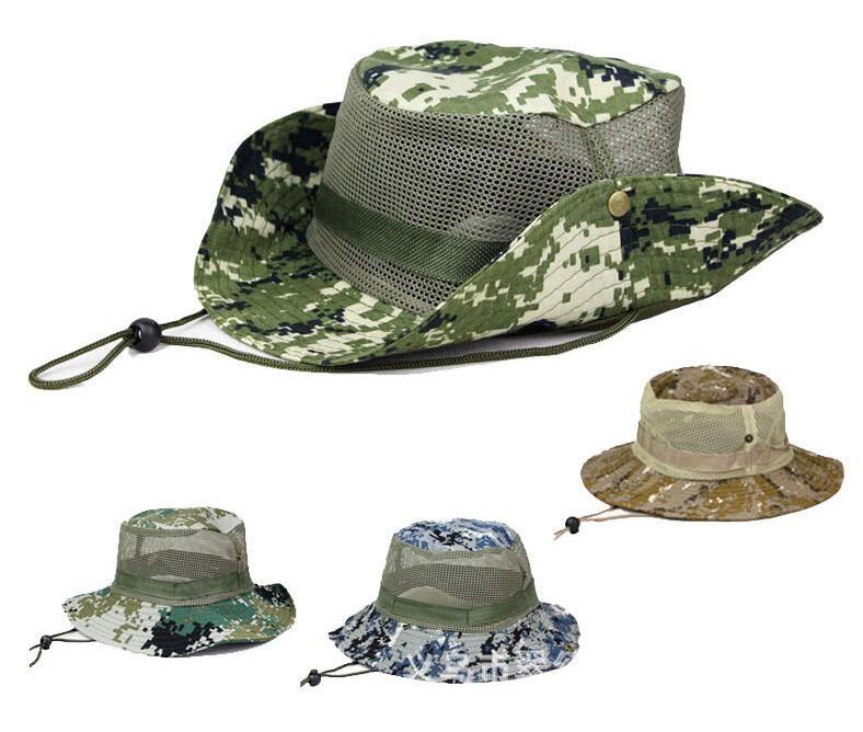 Unisex Adult Wide Brim Foldable Flat Bucket Hats Breathable Mesh Men Women  Camouflage Fisherman Caps Outdoors Sun Protective Beach Hat CS009 Women Cap  Can ... 4c6f40443f09