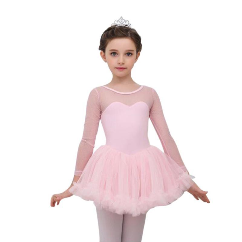 Acheter Enfants Filles Mignon Nouveau 4 15y Maille À Manches Longues Ballet  Tutu Gymnastique Justaucorps Jupe Tutu Danse Robe H7 De  22.49 Du Veilolive  ... 5cc481d5121