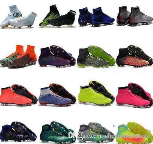 High Top Mens Kids Soccer Shoes Mercurial CR7 Superfly V FG Boys ... eb1891c2cab07