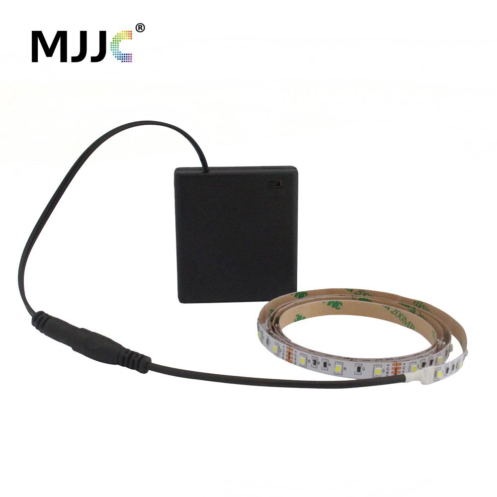 Battery Powered Led Strip Light 50cm 1m 2m 3m Adhesive Tape Lights