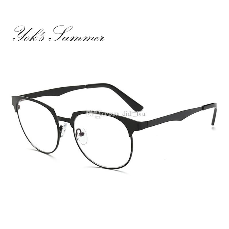 b6e65a49b22 Yok s Summer Vintage Round Glasses Frame Women Men Ultra Light Clear ...