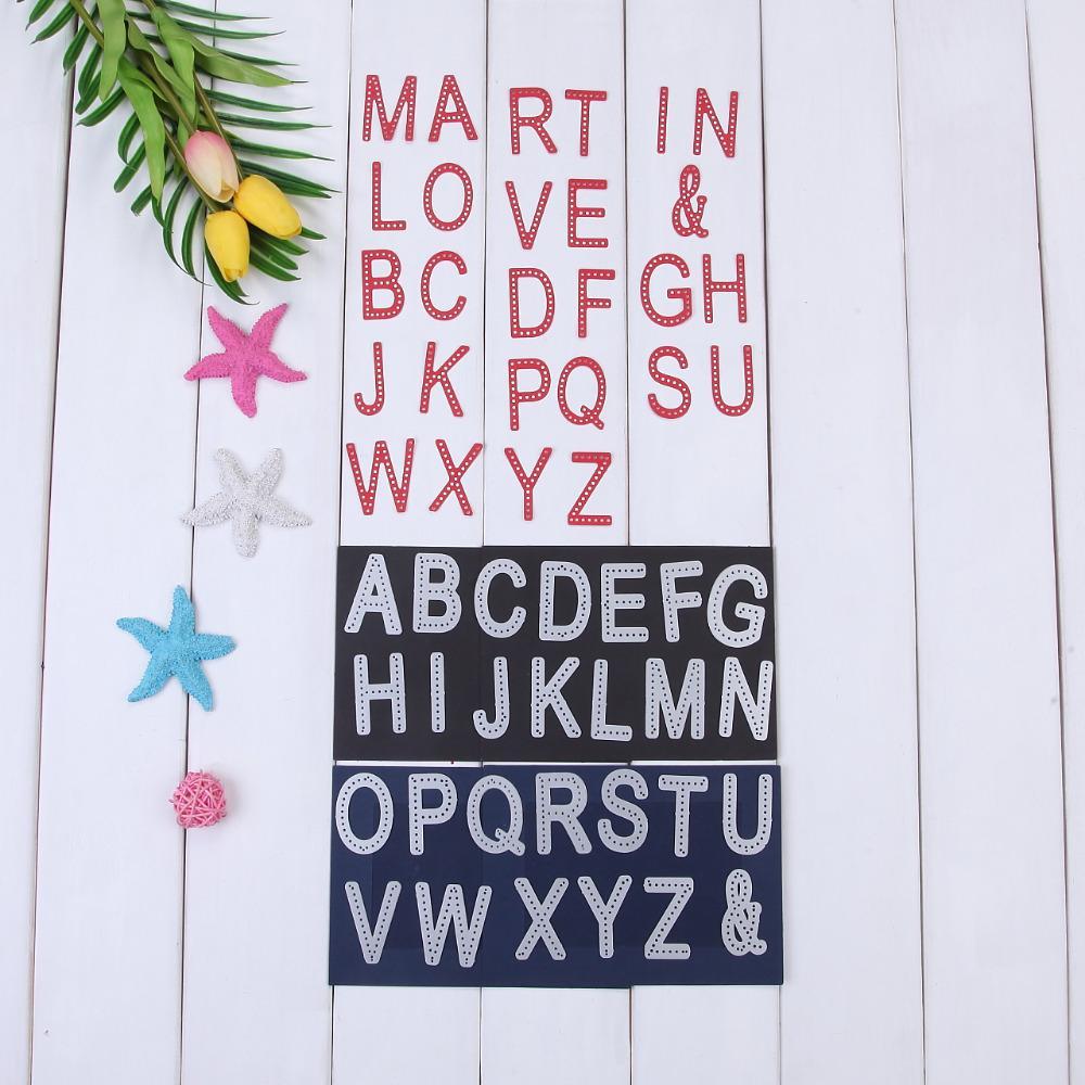 Großhandel 26 Buchstaben A Z Alphabet Form Brief Design Metall