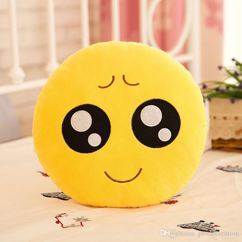 Beddingoutlet Cute Emoji Cushion Home Smiley Face Pillow