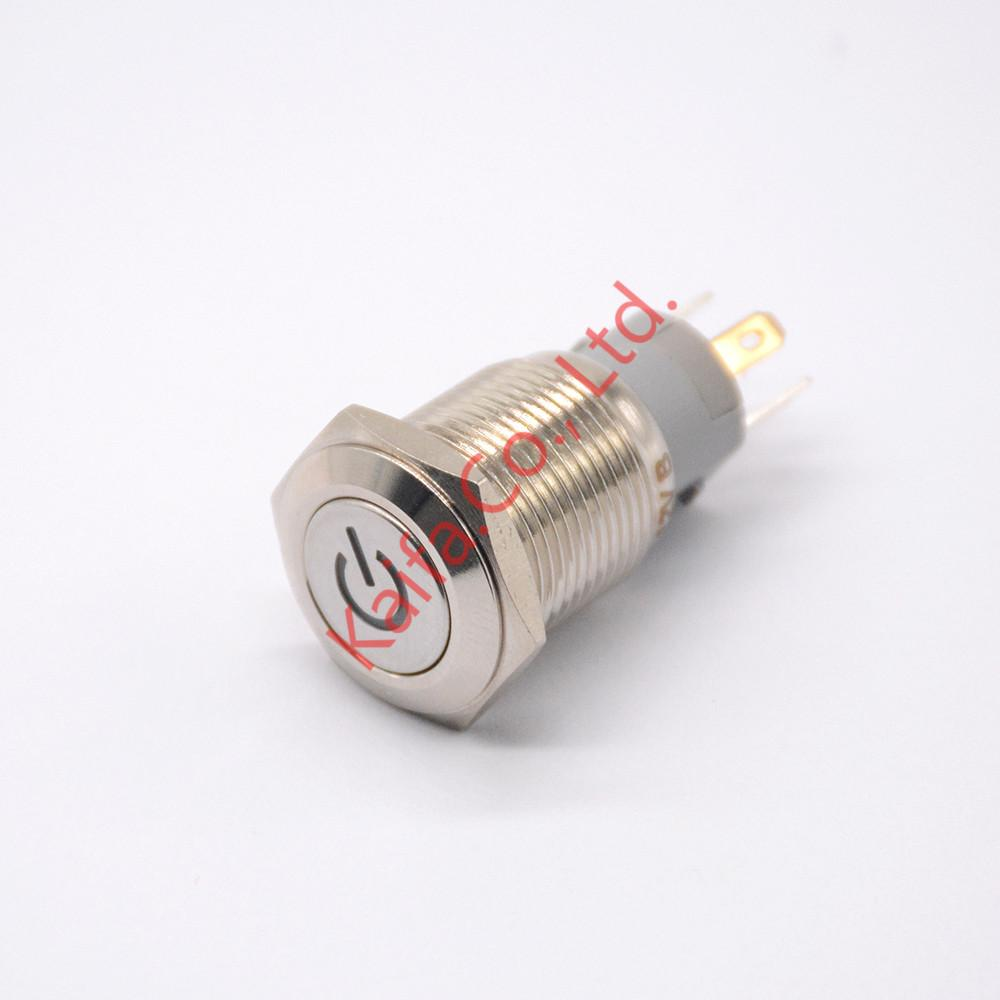 2018 16mm 12v Led Latching Push Button Metal Switch On/Off Car Boat ...