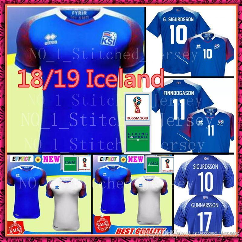 d52273b6a Iceland 2018 World Cup Jerseys Home Away SIGURDSSON SIGTHORSSON Top Quality  Soccer Jerseys 18 19 Iceland Football Shirts Iceland Jersey Iceland World  Cup ...