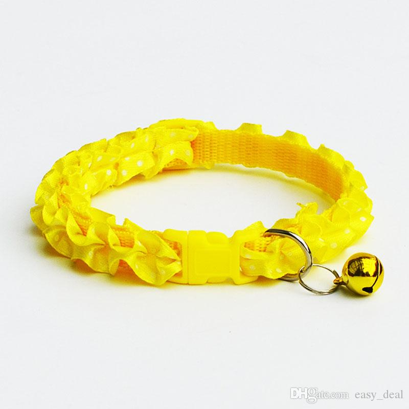 Collar collar Chihuahua Purfle Decoración pequeño perro doméstico del gato del cordón del cuello de la campana ajustable para gatos ZA6121