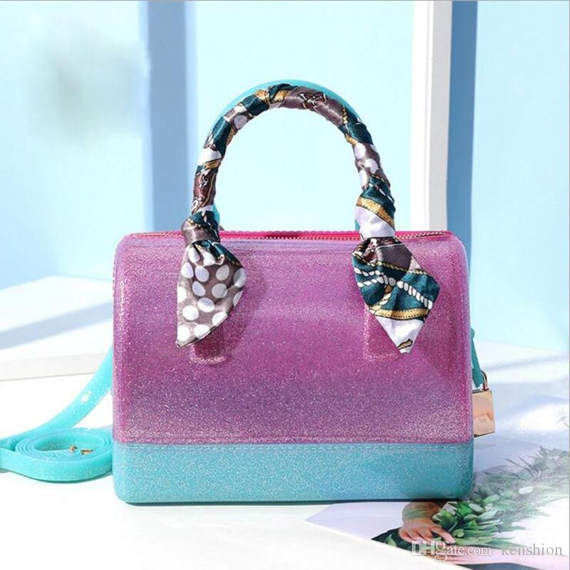 c36c6485e3 Wholesale Candy Bag Women Bag Furly Candy Handbag Brand Fashion Big Size  Famous Brand PVC Silicone Jelly Handbags Lock Shoulder Bag JOU763 Cheap  Purses ...